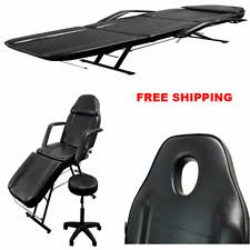 massage table and chair. New Massage Table Bed Chair Beauty Portable Adjustable Facial Tattoo Salon Stool And