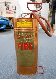 old guardian 2 1 2 gal pump tank fire extinguisher copper brass vintage