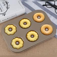 Moule Or 3 Fleurs Type Donuts Cookie 6 Tasses Gâteau Cuisson Outils Ustensiles De Accessoires De Cuisine