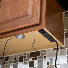 lighting for cabinets. power control mounted underneath upper cabinets lighting for