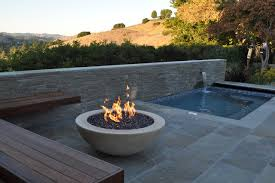 modern patio fire pit. Round Pool-side Fire Pit And Floating Bench (source: Houzz.com) Modern Patio S