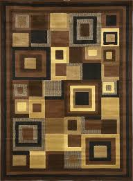 home dynamix catalina 4467 469 black brown polyproplene 5 feet 3 by 7 feet 2 contemporary area rug