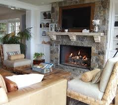 Family Room Stone Fireplace  HouzzHouzz Fireplace