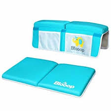 bath kneeler with elbow rest pad set 2 piece x long thick knee cushioned bathtub support non slip bottom 4 caddy pockets hypoallergenic padding