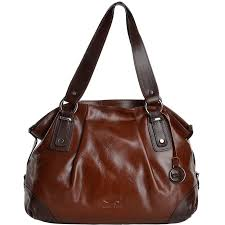 arta ponti medium italian leather handbag cognac brn 8106002