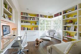 trendy home office furniture. custom built desk and dazzling shelves for the trendy home office [design: u+ furniture n