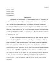 informative essay outline on reality tv katelynn murphy topic  2 pages media