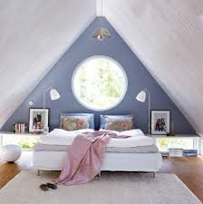 Bedroom: Wooden Attic Bedroom Interior Design - TV Stands