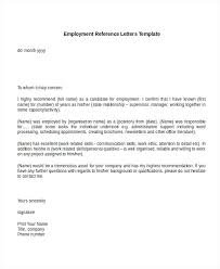 Recommendation Letter Template Job Copy Example Reference Letter For