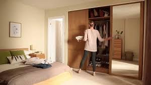 attractive wood sliding closet doors and sliding mirror closet doors with shoe racks also interior paint