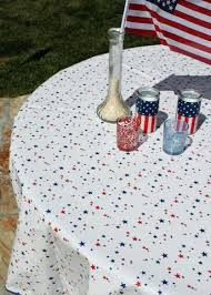 holiday tablecloth round of stars oilcloth tablecloths target