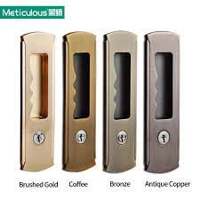 meticulous mortice sliding door lock with keys interior room hanging embedded hook invisible locks o48 locks