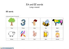 There are differences in opinion about whether using phonics is useful in teaching children to read. Ea And Ee Worksheet