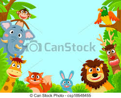 jungle animal background. Fine Background Animals Frame  Csp18548455 On Jungle Animal Background F