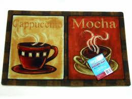 homey coffee kitchen rugs cups rug cappuccino mocha mat