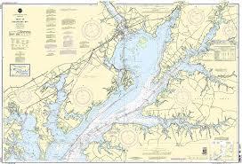 Chesapeake Bay Maps Charts Amazon Com Noaa Chart 12274 Head Of Chesapeake Bay
