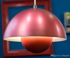 verner panton flowerpot pendant lamp dining living room ceiling light metal flower pot modern design white blue red green yellow large pendant lighting