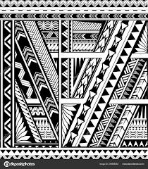 полинезийские этнический стиль рукав татуировки векторное