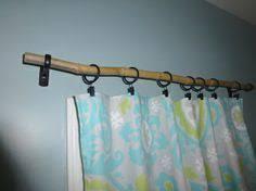 Bamboo curtain rod