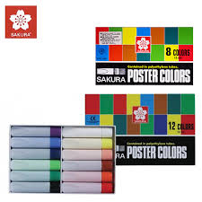Sakura Poster Color Chart Sakura Poster Colors Contained In Polyethylene Tube 6 Colors