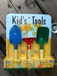3 piece kids garden tool set