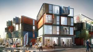 Striking apartment complex is made of 48 raw shipping containers