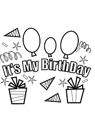 Small Picture Its My Party Free Birthday Coloring Pages Birthday Coloring