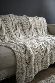 How To Knit A Rug Chunky Cable Knit Throw Rug Natural Title Online Title Online