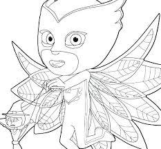 Pj Masks Coloring Pages Owlette Mask Coloring Pages Masks Games Free