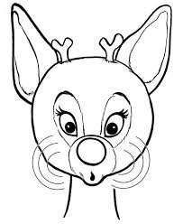 Small Picture Beautiful Red Nose of Rudolph the Reindeer Coloring Page Color Luna