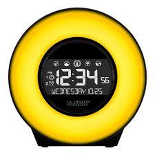 la crosse technology color mood light alarm clock with nature sounds