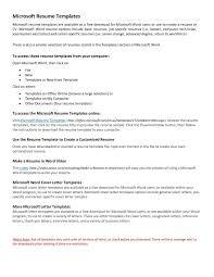 Professional Resume Template Microsoft Word Free Templates Ms Cv
