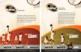 high impact basketball camp design 8 5times11 flyers