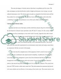 current and future development of electric train essay current and future development of electric train essay example