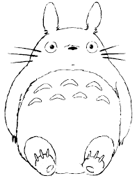 Small Picture Totoro coloring pages to download and print for free