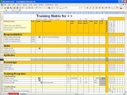Employee Training Tracking Template Excel Exercise Log Template Or