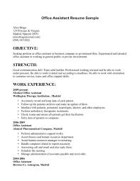 Office Assistant Resume Sample Sample Resume Administrative