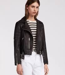 quilted leather balfern biker jacket
