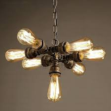 industrial style lighting primitive 7 light water pipe shaped pendant lights nz st