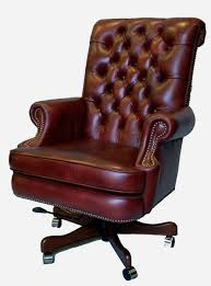 leather antique wood office chair leather antique. Furniture:Antique Dark Brown Comfortable Laminated Leather Tufted Office Chair With Black Painted Wood Base Antique J