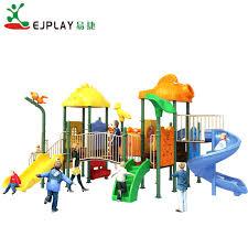 kid plastic play house slide outdoor