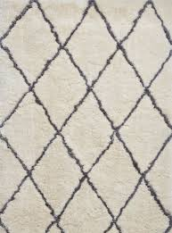 think rugs morocco 2491 hand tufted rug ivory grey