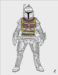Star Wars Coloring Pages Boba Fett Printable Adult Coloring Etsy