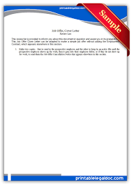 free printable job offer cover letter form (generic)
