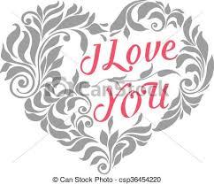 decorative victorian ornament heart csp36454220