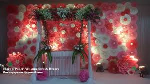 Paper Flower Suppliers Paper Flower Backdrop Floras Paper Art Suppliers Decors