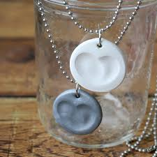 how to make a fingerprint necklace through for easy directions diy mother s day