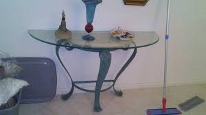 NICE IRON STONE AND GLASS HALL TABLE Furniture In Pompano Beach FL  OfferUp