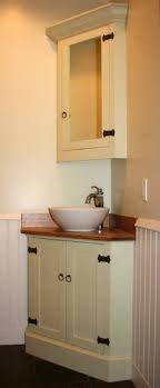 Wooden Corner Bathroom Cabinet Wooden Corner Bathroom Vanity With Legs Space Saver Corner