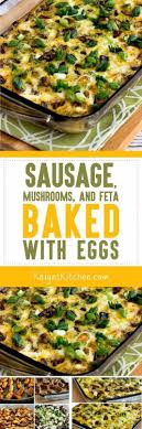 best ideas about atkins breakfast low carb sausage mushrooms and feta baked eggs